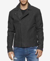 Calvin Klein Jeans Men's Elephant Biker Coat Grey Shade