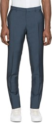 Burberry Blue Wool Trousers