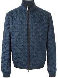 Brioni Quilted Bomber Jacket Blue