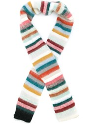 Chloe Striped Knitted Scarf Multicolour