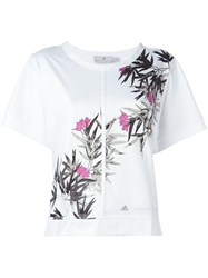 Adidas By Stella Mccartney Floral Print T Shirt White