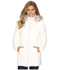 Spyder Timeless Long Faux Fur Down Jacket White Women's Coat