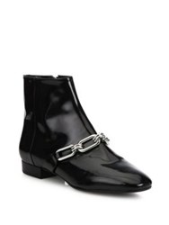 Michael Kors Lennox Patent Leather Booties Black