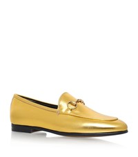 Gucci Jordaan Snaffle Loafers Female Gold