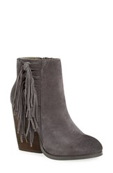Very Volatile Women's 'Dreamcatch' Fringe Bootie Charcoal Suede