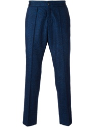 Soulland 'Kreuzberg' Relaxed Tailored Trousers Blue
