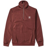 Adidas Beckenbauer Half Zip Track Top Brown
