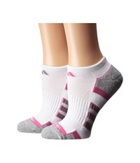 Adidas Climalite Ii 2 Pack No Show Socks White Mono Pink Aluminum 2 Aluminum 2 Marl Women's No Show Socks Shoes