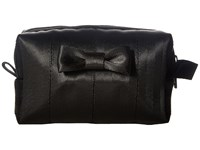 Harveys Seatbelt Bag Mini Bow Dopp Kit Black Handbags