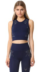 Lucas Hugh Technical Knit Hummingbird Crop Top Midnight