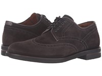Aquatalia By Marvin K Carson Charcoal Dress Suede Men's Lace Up Casual Shoes Brown