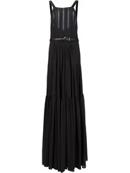 Vera Wang Bib Neck Apron Gown Black