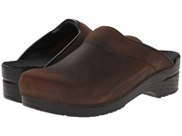 Dansko Karl Antique Brown Oiled Men's Clog Shoes