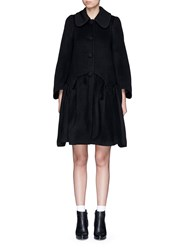 Chictopia Wool Melton Peplum Coat Black