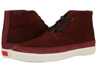 Chrome Suede Chukka Brick Off White Men's Shoes Brown