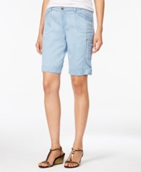 Styleandco. Style Co. Cargo Bermuda Shorts Only At Macy's Light Chambray