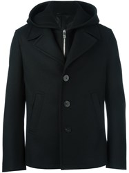 Neil Barrett Hooded Short Jacket Black