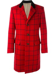 Jean Paul Gaultier Vintage 'Flower Power Et Skinheads' Coat Red
