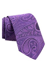 Gitman Brothers Vintage Men's Paisley Silk Tie Purple
