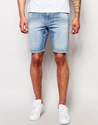 Antony Morato Vintage Wash Denim Skinny Shorts Light Blue