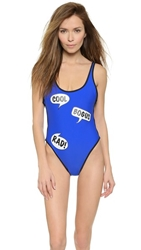Wildfox Couture Totally Rad 80S Zipper Swimsuit Deep End