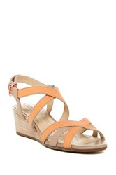 Geox Lupe Wedge Sandal Orange