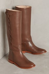 Anthropologie Candela Side Looped Riding Boots Brown