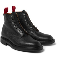 Oliver Spencer Grained Leather Boots