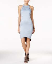 Material Girl Juniors' Embellished Faux Suede Bodycon Dress Only At Macy's Dream Blue
