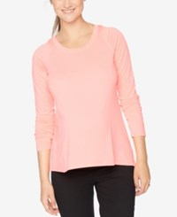 Motherhood Maternity Long Sleeve Tee Dayglow Pink