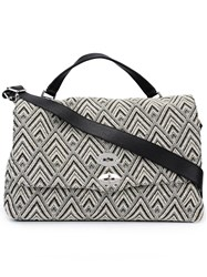 Zanellato Zig Zag Pattern Large Tote Nude And Neutrals