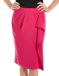 424 Fifth Petite Drape Front Pencil Skirt Pink Paradise