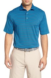 Bobby Jones Men's 'Feed Stripe Xh20' Stretch Golf Polo