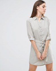 Ax Paris Tie Waist Shirt Dress Green