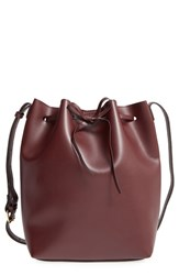 Sole Society 'Blackwood' Faux Leather Bucket Bag Red Oxblood