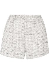 Haute Hippie Printed Silk Organza Shorts White