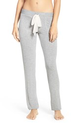 Betsey Johnson Women's French Terry Lounge Pants Grey Heather