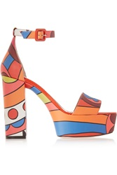 Red Valentino Printed Leather Sandals