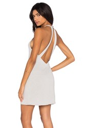 Lanston V Back Halter Dress Gray