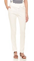 Veronica Beard Delray Fold Over Trousers White