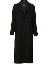 Y's '4 Buttons' Classic Coat Black