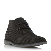 Howick Haider Corduroy Effect Chukka Boots Black