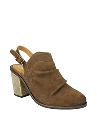 Naughty Monkey Arizona Suede Slingback Mules Tan