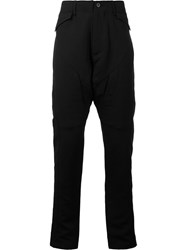 Julius Paneled Peg Leg Pants Black