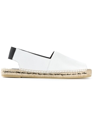 Philippe Model Open Toe Espadrilles White