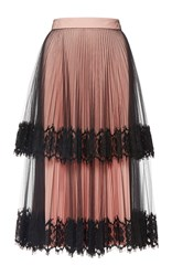 Christopher Kane Tulle Tiered Skirt Pink