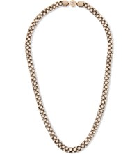 Michael Kors Crystal Embellished Necklace Rose Gold
