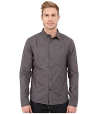 Black Diamond Long Sleeve Chambray Modernist Shirt Smoke Men's Clothing Gray