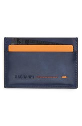 Men's Magnanni 'Arkansas' Leather Card Holder Blue Ocean