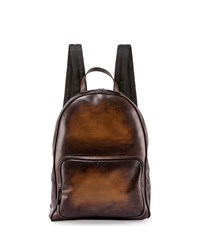 Berluti Time Off Leather Backpack Tobacco Bis
